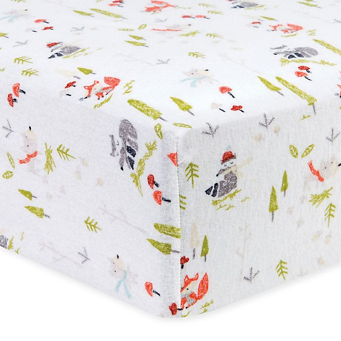 Alternate image 1 for Trend Lab® Winter Woods Flannel Fitted Crib Sheet