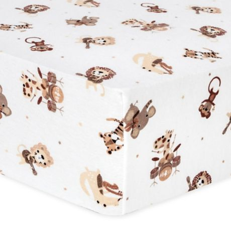 Trend Lab 174 Safari Rock Band Flannel Fitted Crib Sheet