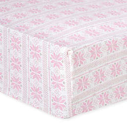 Trend Lab® Fair Isle Flannel Fitted Crib Sheet in Pink