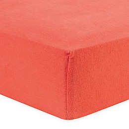 Trend Lab® Flannel Fitted Crib Sheet in Coral
