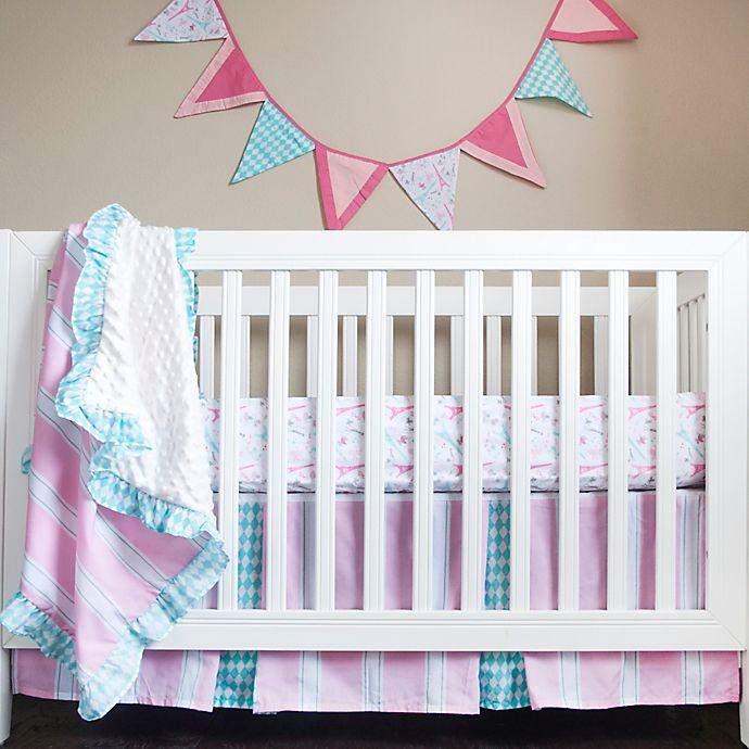Alternate image 1 for Pam Grace Creations Posh in Paris 4-Piece Crib Bedding Set