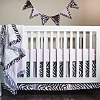 Pam Grace Creations Zara Zebra 4-Piece Crib Bedding Set