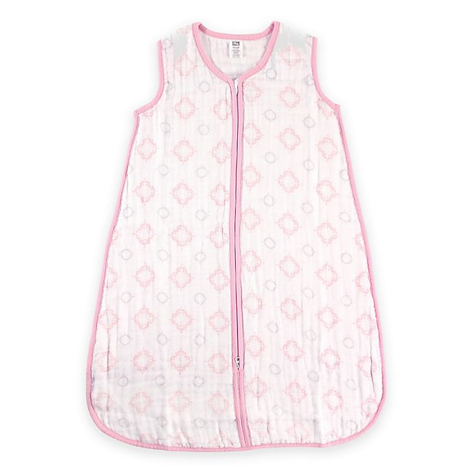 Alternate image 1 for BabyVision® Hudson Baby® Size 0-6M Damask Muslin Sleeping Bag