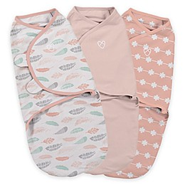 SwaddleMe® Original Swaddle Small/Medium 3-Pack Feathers in Coral