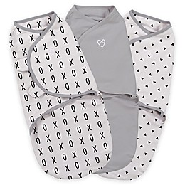 SwaddleMe® Original Swaddle Small/Medium 3-Pack XO in Gray