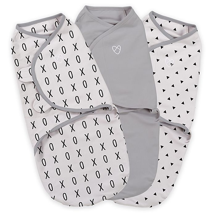 Alternate image 1 for SwaddleMe® Original Swaddle Small/Medium 3-Pack XO in Gray