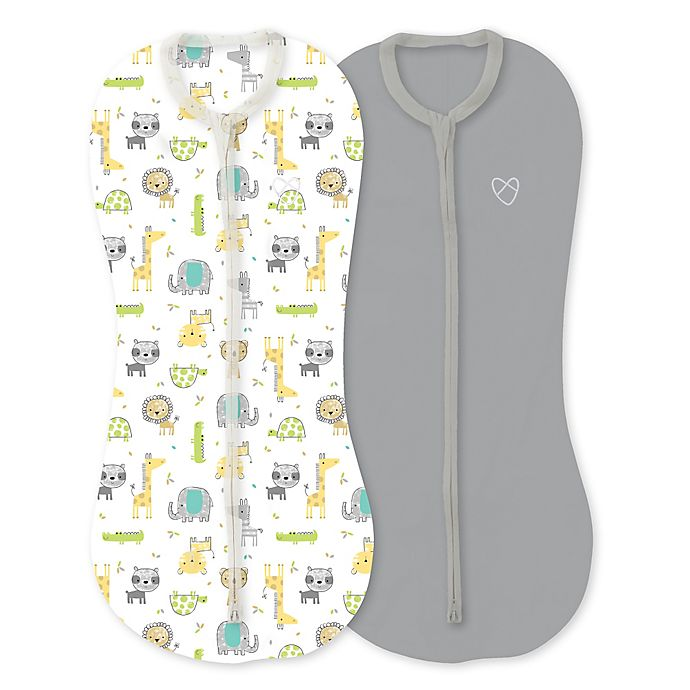 Alternate image 1 for SwaddleMe® Pod Newborn 2-Pack Safari Excursion