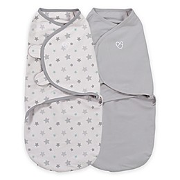 SwaddleMe® Original Organic Swaddle Small/Medium 2-Pack-Starry Skies