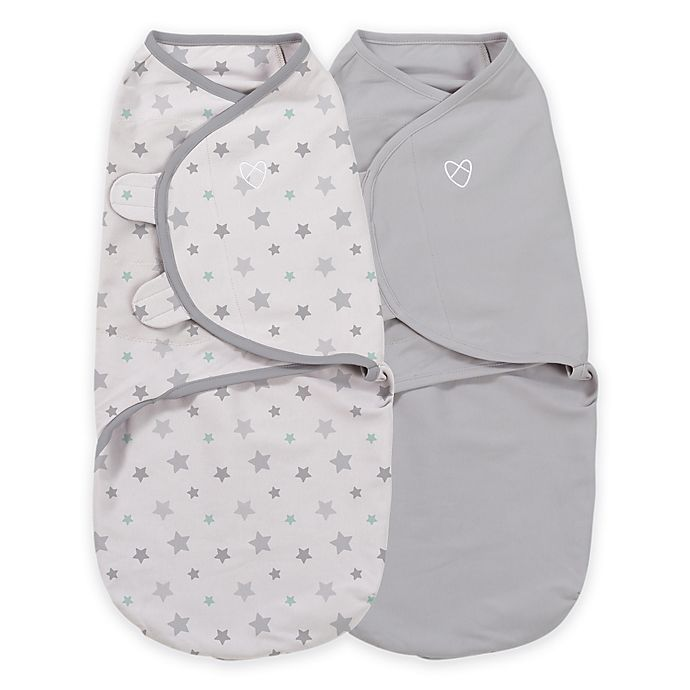 Alternate image 1 for SwaddleMe® Original Organic Swaddle Small/Medium 2-Pack-Starry Skies