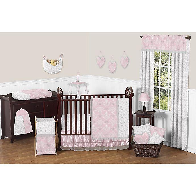 Alternate image 1 for Sweet Jojo Designs Alexa 11-Piece Crib Bedding Set in Pink/Grey