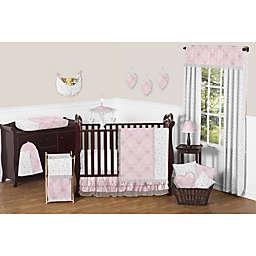 Sweet Jojo Designs Alexa Crib Bedding Collection in Pink/Grey