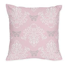 Sweet Jojo Designs Alexa Throw Pillow in Pink/Grey