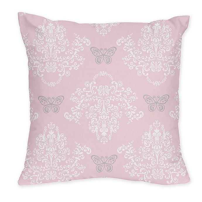 Alternate image 1 for Sweet Jojo Designs Alexa Throw Pillow in Pink/Grey