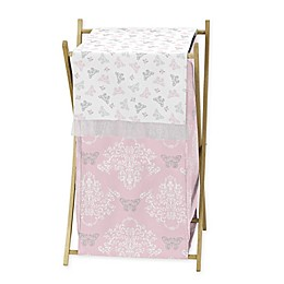 Sweet Jojo Designs Alexa Crib Hamper in Pink/Grey