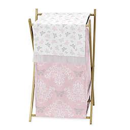 Sweet Jojo Designs Alexa Crib Hamper in Pink/Grey