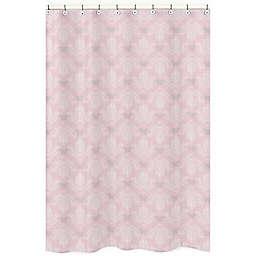 Sweet Jojo Designs Alexa Shower Curtain in Pink/White