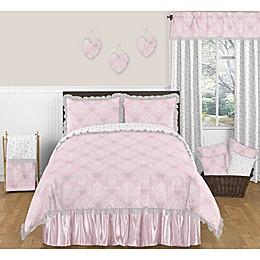 Sweet Jojo Designs Alexa Comforter Set in Pink/White