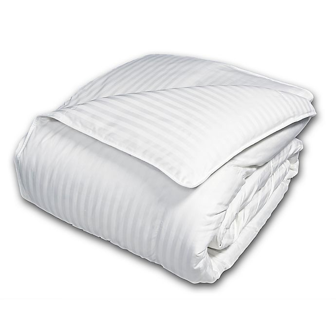 Alternate image 1 for Damask Goose Down and Feather Comforter in White