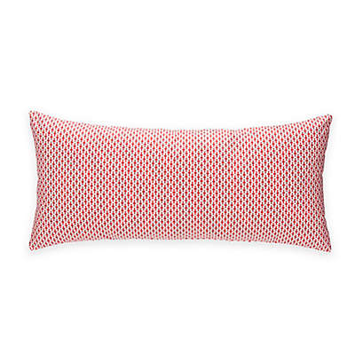 Glenna Jean Fish Tales Oblong Throw Pillow in Red and White