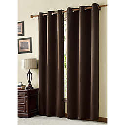 VCNY McKenzie Juvi 108-Inch Room-Darkening Grommet Top Window Curtain Panel in Chocolate