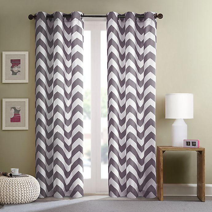 Alternate image 1 for Intelligent Design Libra Grommet Top Window Curtain Panel Pair in Grey