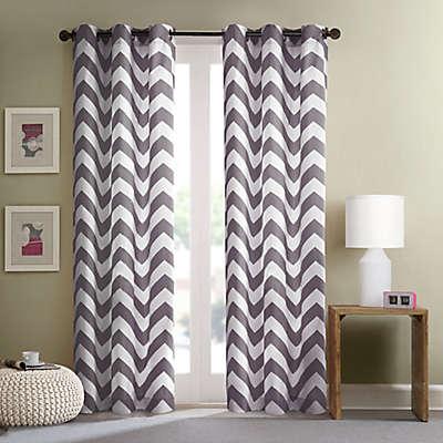 Intelligent Design Libra Grommet Top Window Curtain Panel Pair in Grey