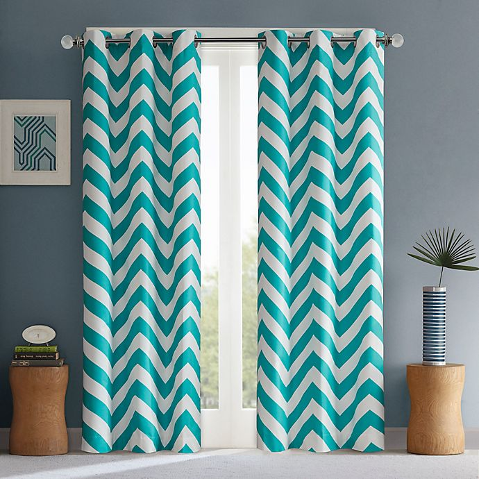 Alternate image 1 for Intelligent Design Libra Room-Darkening Grommet Top Window Curtain Panel Pair