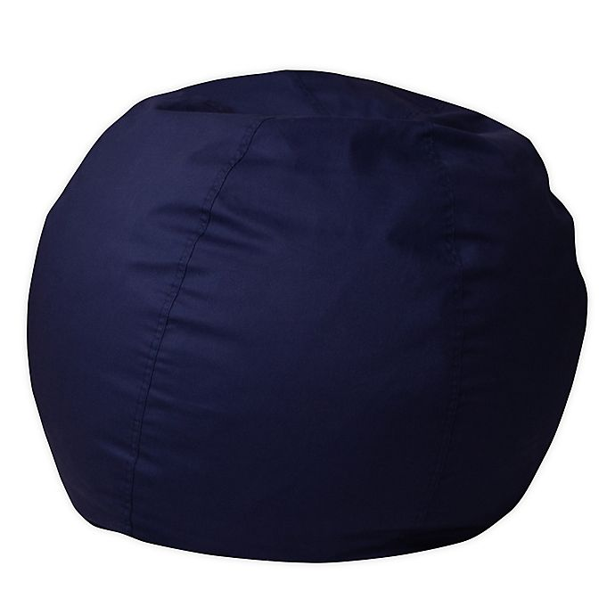 Alternate image 1 for Flash Furniture Small Solid Bean Bag Chair in Navy