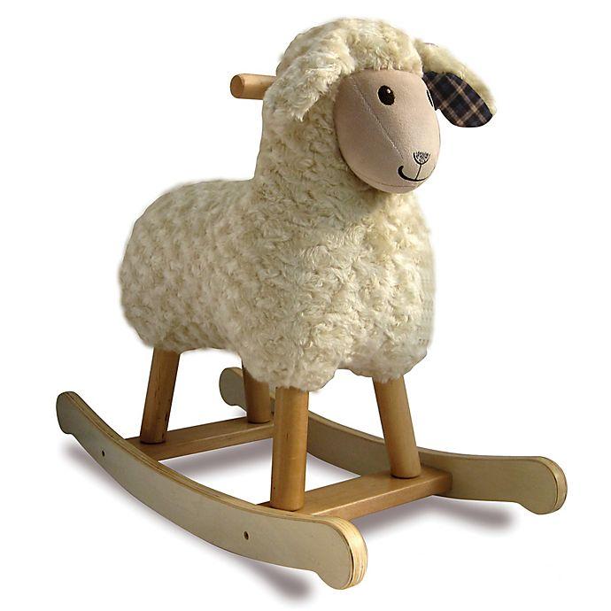 Alternate image 1 for Little Bird Told Me Lambert Lamb Infant Rocking Horse