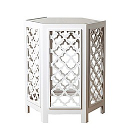 Abbyson Living® Garland Mirrored End Table in White