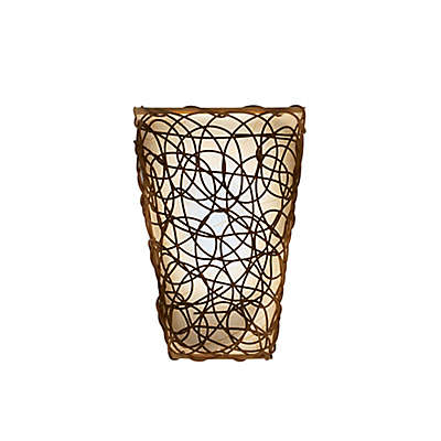 Wicker Wall Sconce in Tan/Brown