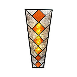 Diamond Stained Glass Wall Scone in Amber