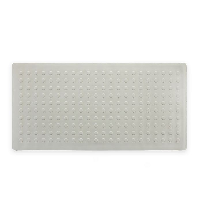 Alternate image 1 for SlipX® Microban® 36-Inch x 18-Inch Extra Long Rubber Bath Safety Mat