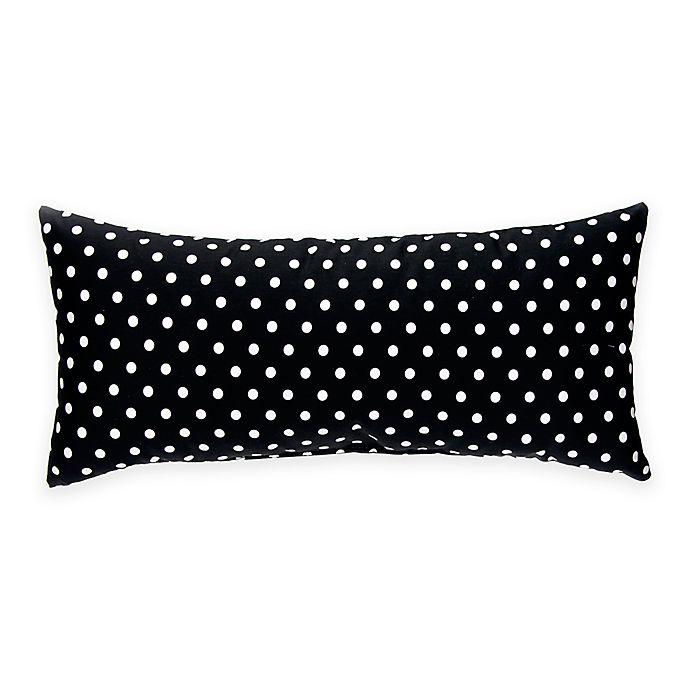 Alternate image 1 for Glenna Jean Pippin Rectangular Black and White Dot Bolster
