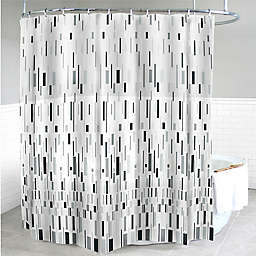 Splash Home Bars PEVA Shower Curtain in Grey