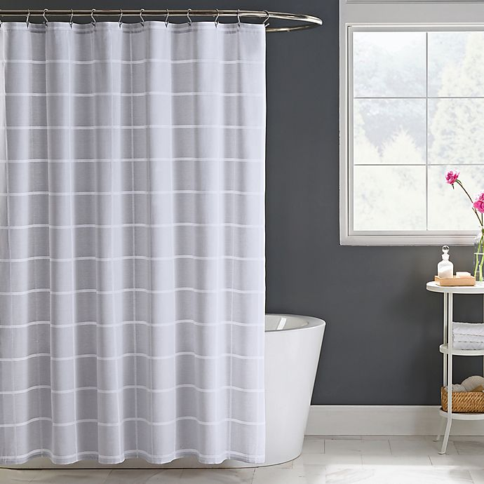 Bed Bath And Beyond Shower Curtain gavin shower curtain in grey | bed bath & beyond