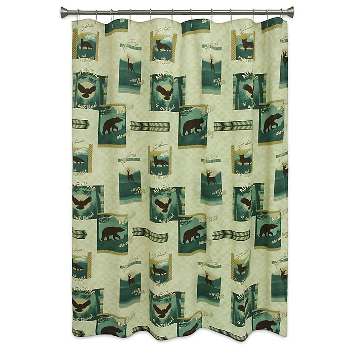BacovaTM Discover The Wild Shower Curtain