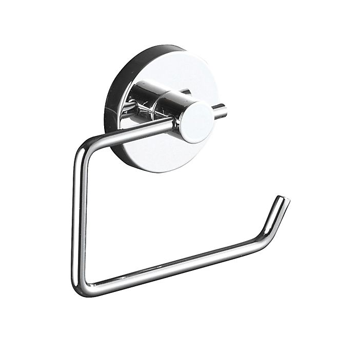 Alternate image 1 for Wenko Milazzo Vacuum-Loc Wall Mount Toilet Paper Holder in Chrome