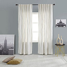 India's Heritage Pompom Rod Pocket/Back Tab Window Curtain Panel