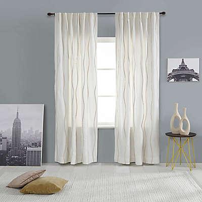 India's Heritage Pompom Rod Pocket/Back Tab Window Curtain Panel