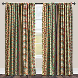 Laural Home Country Mood 84-Inch Room-Darkening Rod Pocket Window Curtain Panel in Green