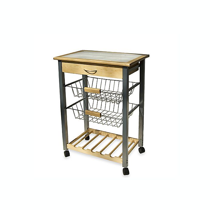 Alternate image 1 for Rolling Kitchen Cart with Two Baskets