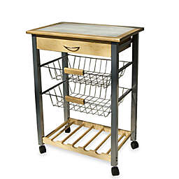 rolling kitchen cart with two baskets - Kitchen Carts