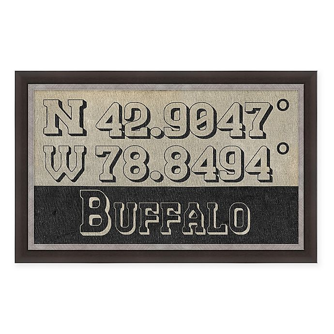 Alternate image 1 for Buffalo Coordinates Framed Wall Art
