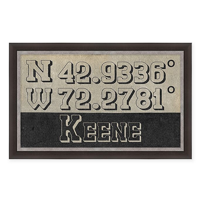 Alternate image 1 for Kenne New Hampshire Coordinates Framed Wall Art