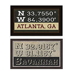 Georgia Coordinates Framed Wall Art Collection