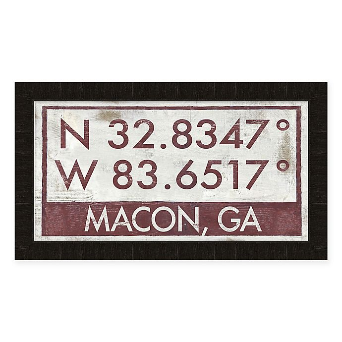 Alternate image 1 for Macon Georgia Coordinates Framed Wall Art