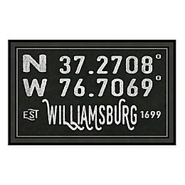 Williamsburg, Virginia Coordinates Framed Wall Art