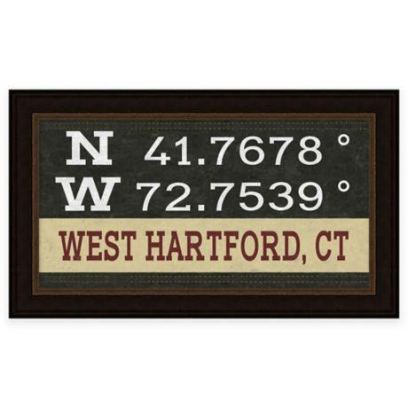West Hartford Connecticut Coordinates Framed Giclee Wall Art Bed Bath Beyond