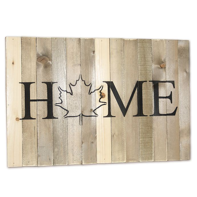 Alternate image 1 for Sweet Bird & Co. Wooden Home State Canada Wall Art